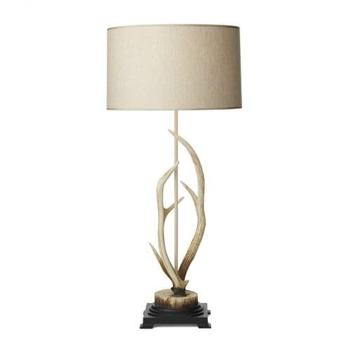 David Hunt ANT4215 Antler Bleached Table Lamp Complete With Shade